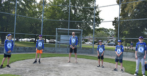 Jericho Baseball grads with commemorative shirt sponsor Gord  - Buntain Insurance. Thanks Gord!