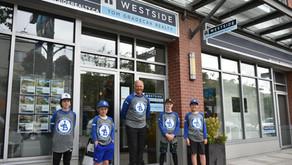 Jericho Baseball grads with commemorative shirt sponsor Tom Gradecak - Westside Realty.  Thanks Tom!