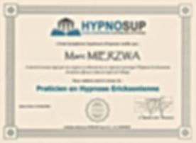 Capture Certificat Praticien Hypnose Eri