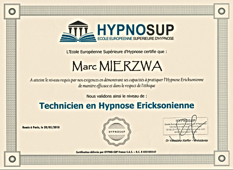 Capture Cetificat Technicien Hypnose Eri