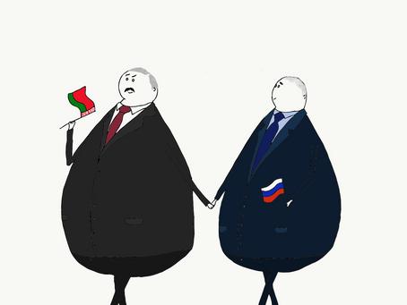 Um bigode entre Putin e a Europa