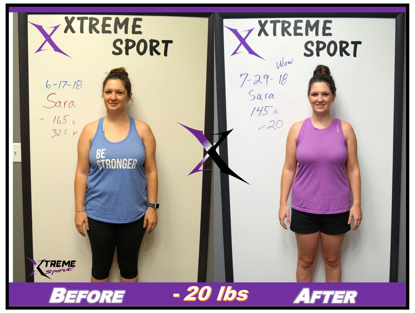 Results vary depending on starting point and effort following Xtreme Sport Fitness Exercise and Nutrition Plan.