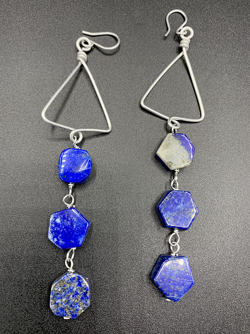 Triangle Dripped Lapis