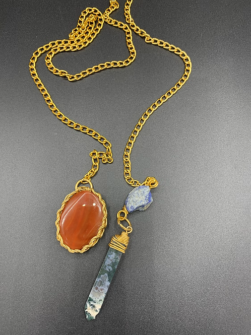 Lanyard Will Power (Carnelian, Agate, Lapis)