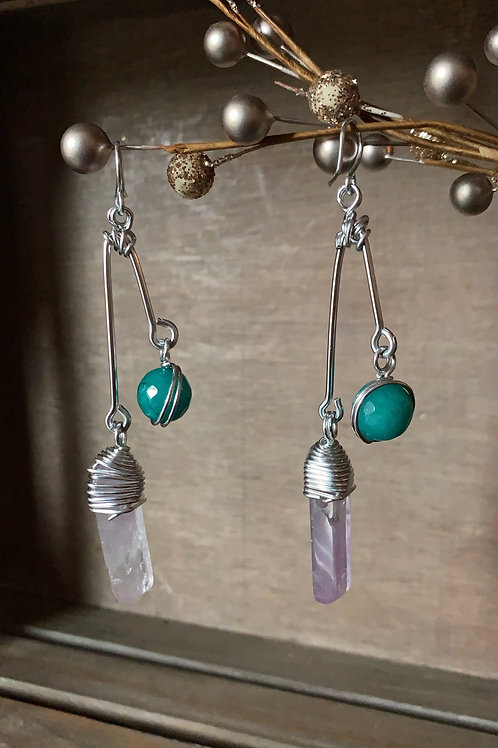 IG Small Triangle (Turquoise and Amethyst)