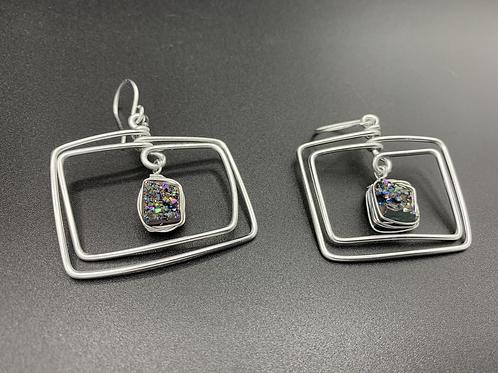Silver Rainbow Squares
