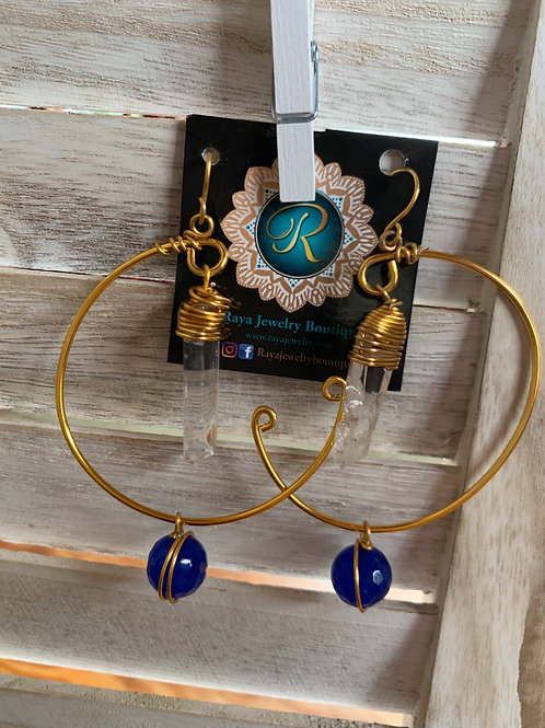 IG Twist Large Gold Hoops (Dallas)