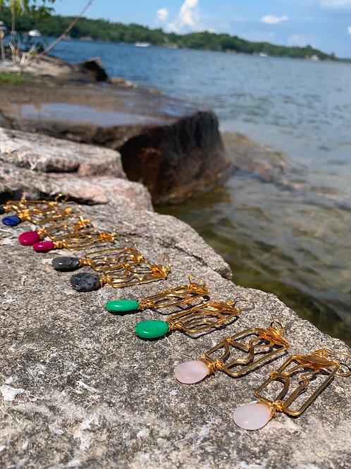 Anuket Earrings Gold (River Goddess)