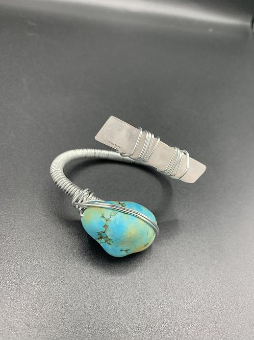 Kat Bracelet (Turquoise, Rose Quartz)