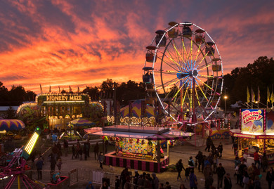 Sunset at the Bobcaygeon Fall Fair