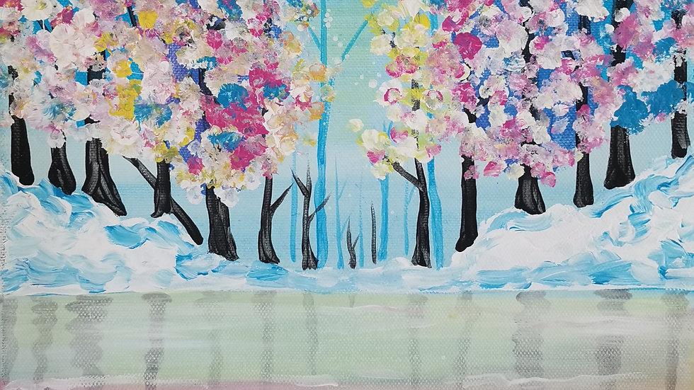 "Acrylbild ""Winter Lake"" 30x40"