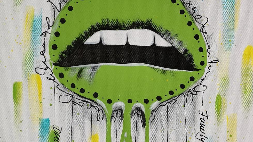 """Acrylbild """"Lips green"""" 30x40"""