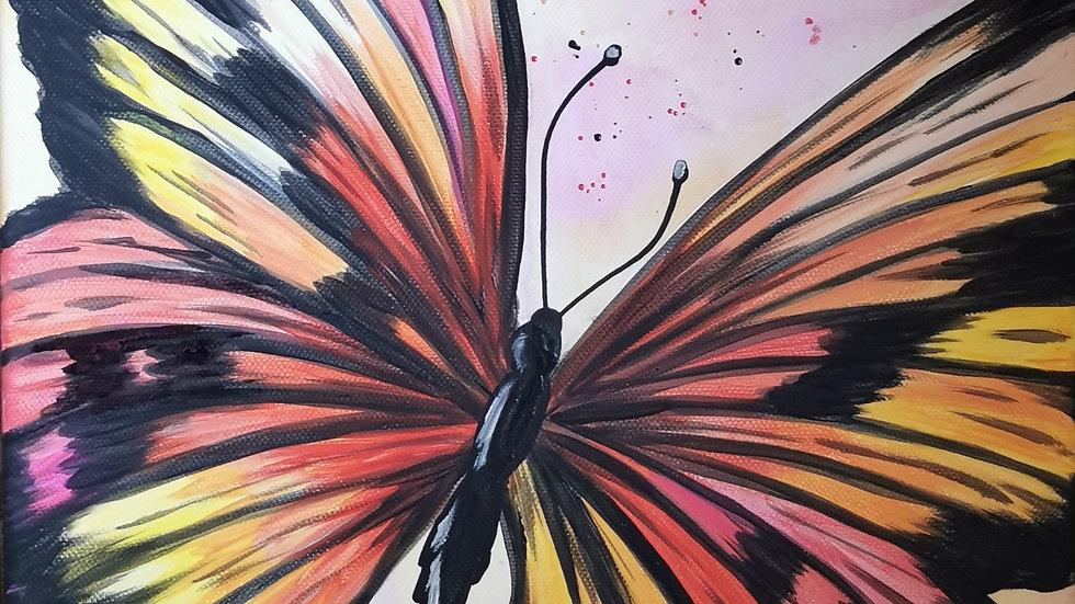 """Acrylbild """"Butterfly orange"""" 30x40"""