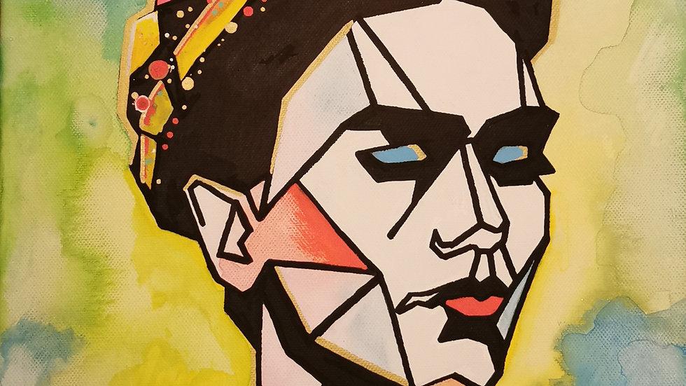 "Acrylbild ""geometric Frida"" 30x40"