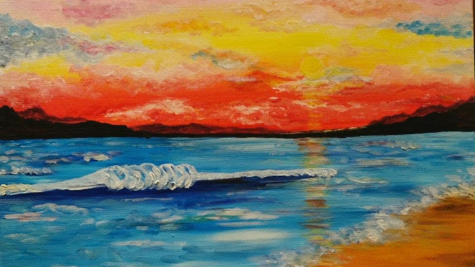 """Acrylbild """"Sunset"""" 30x40"""