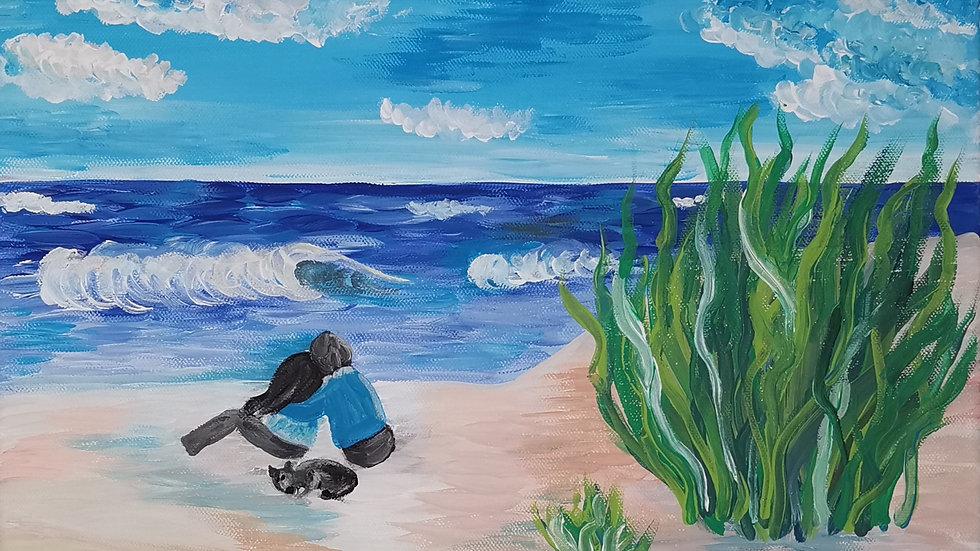 """Acrylbild """"Tag am Meer"""" 30x40"""