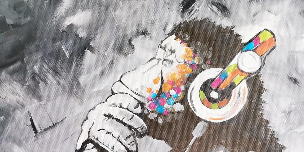 "ArtTime ""Banksy - Affe mit Kopfhörern"""