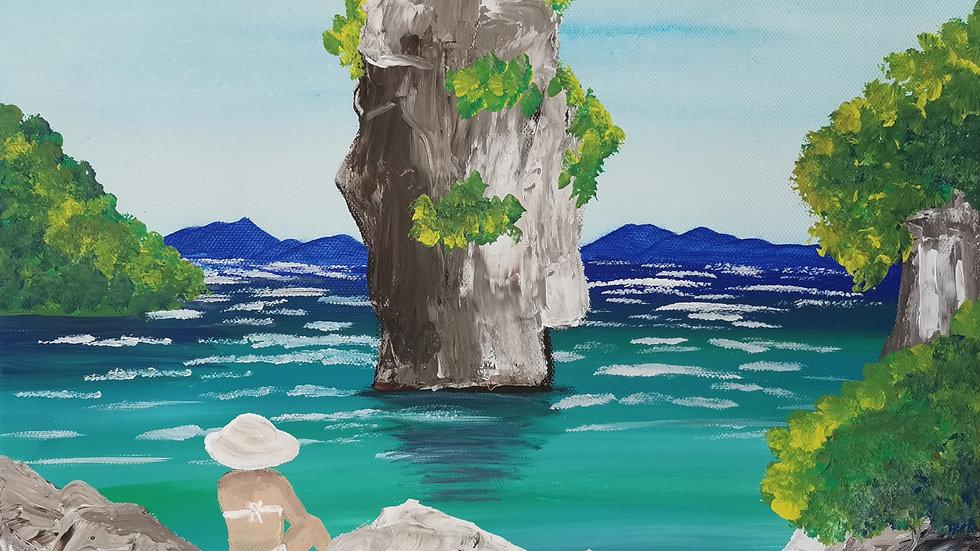 """Acrylbild """"Traum von Thailand"""" 30x40"""