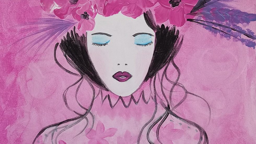 "Acrylbild ""Pink Lady"" 30x40"