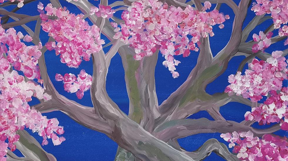 """Acrylbild """"Kirschblüten"""" 30x40"""
