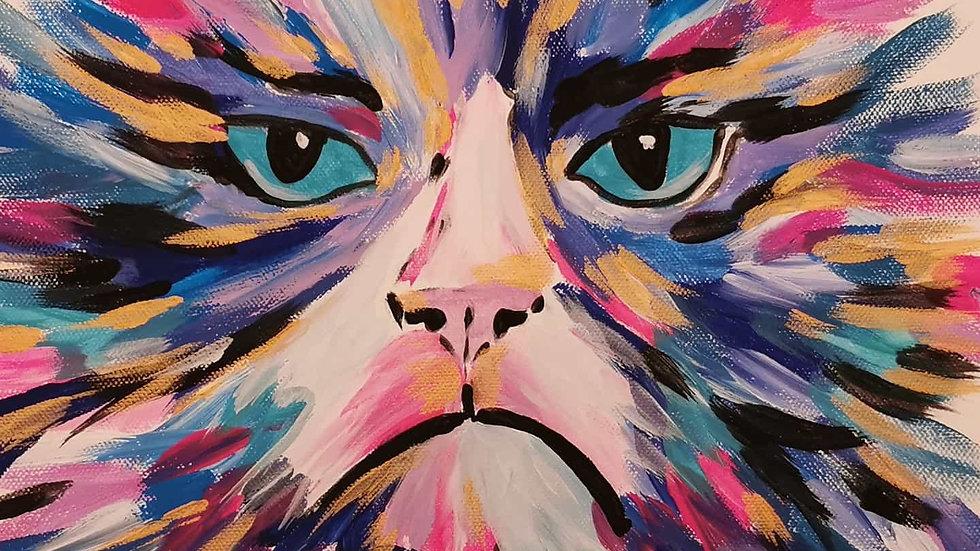 "Acrylbild ""Grumpy Cat"" 30x40"