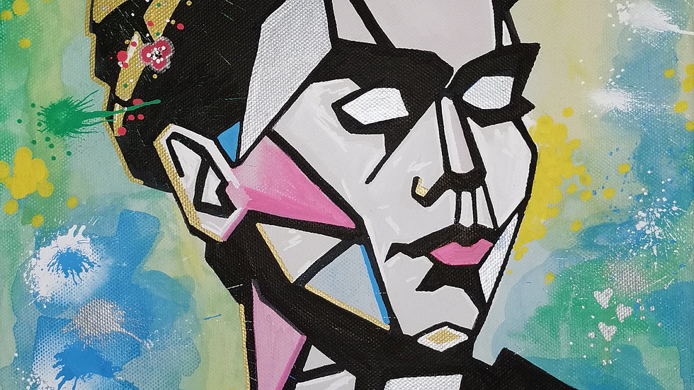 "Acrylbild ""geometric Frida 2"" 30x40"