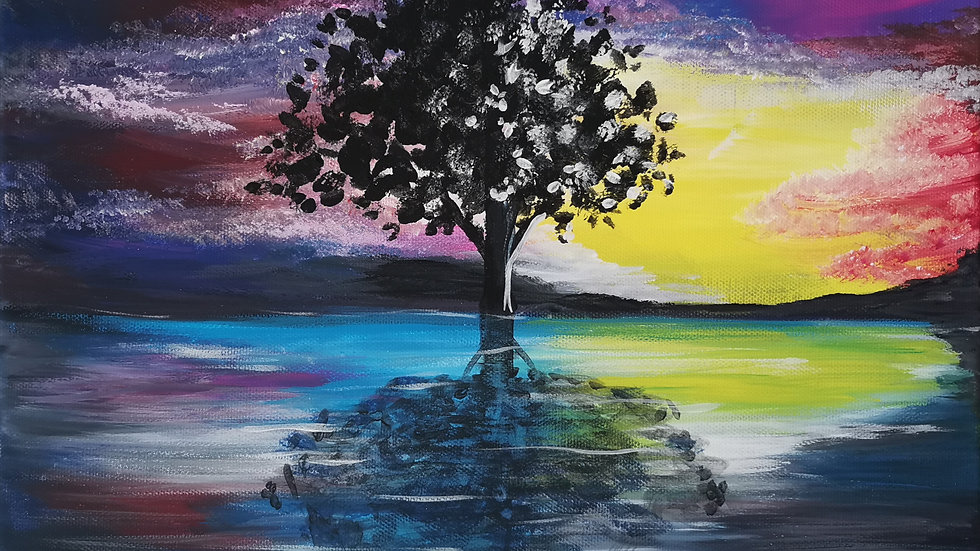 "Acrylbild ""Tree of Hopes 2"" 30x40"