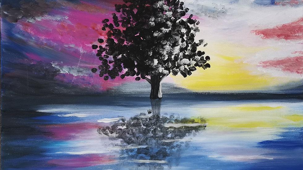 """Acrylbild """"Tree of Hopes"""" 30x40"""