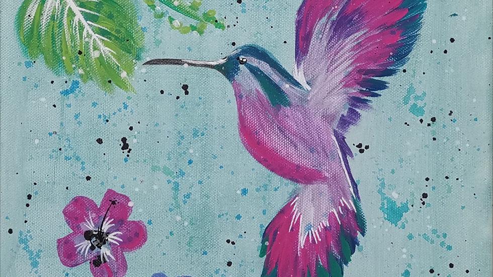 """Acrylbild """"Kolibri"""" 30x40"""