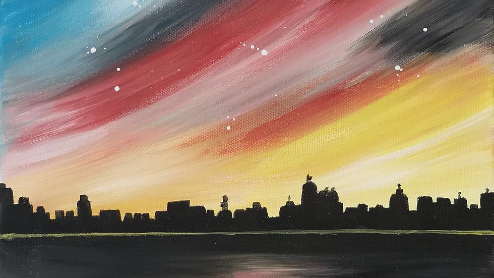 """Acrylbild """"Skyline"""" 30x40"""
