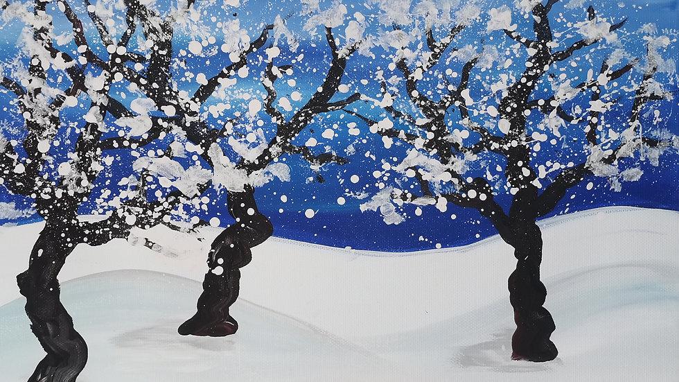 "Acrylbild ""Winter"" 30x40"