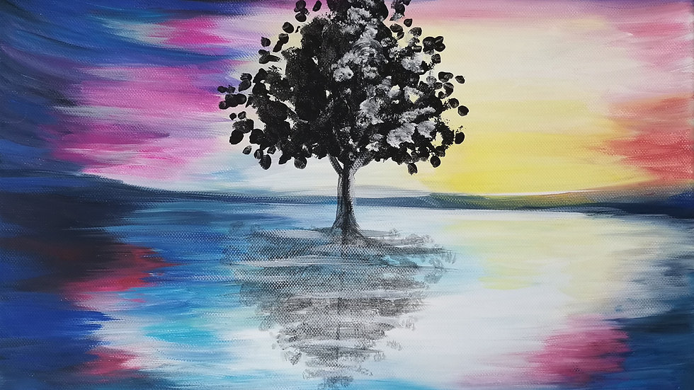 "Acrylbild ""Tree of Hopes 3"" 30x40"