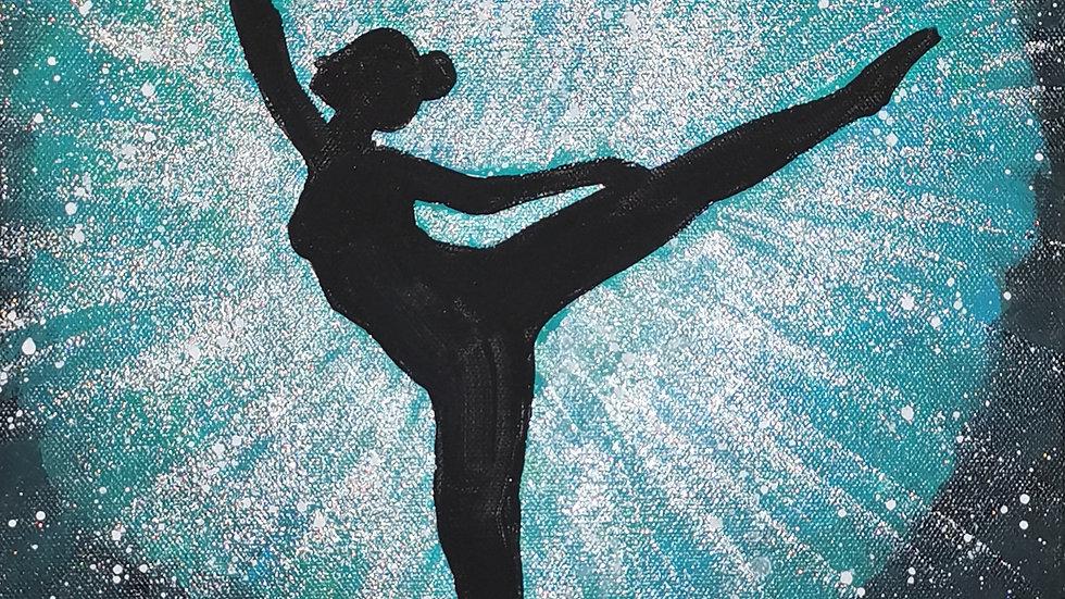 """Acrylbild """"Glitzer Dancer türkis"""" 30x40"""