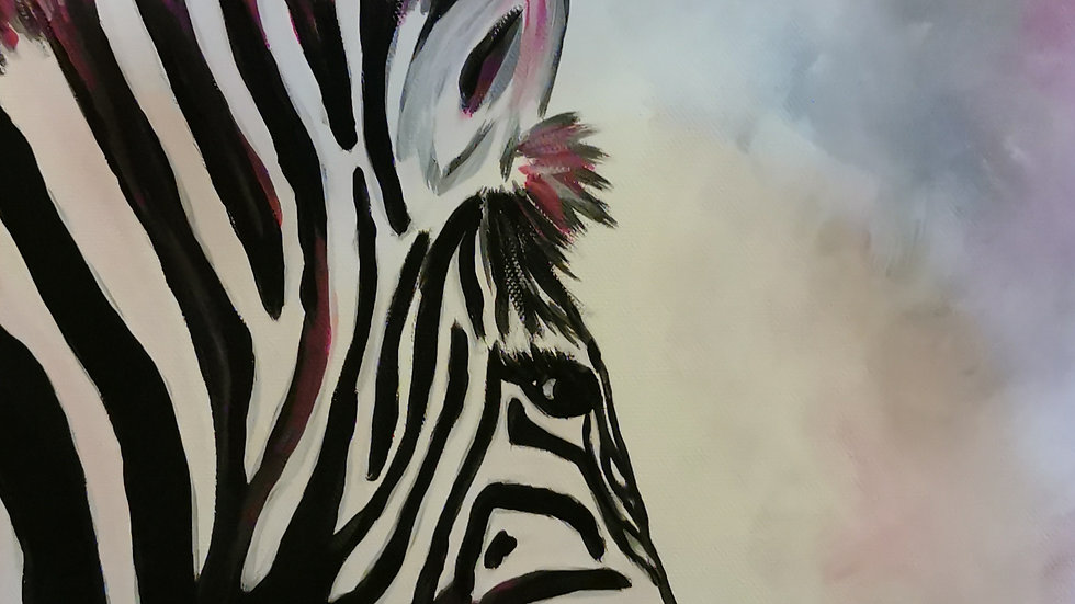 "Acrylbild ""Zebra schwarz"" 30x40"