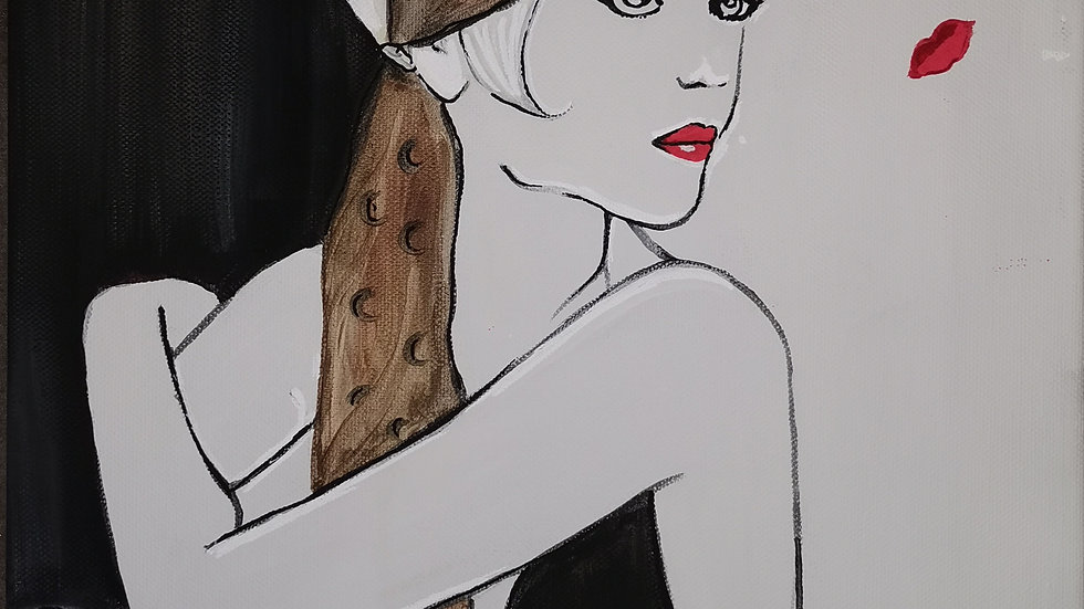 "Acrylbild ""Gatsby brown"" 30x40"