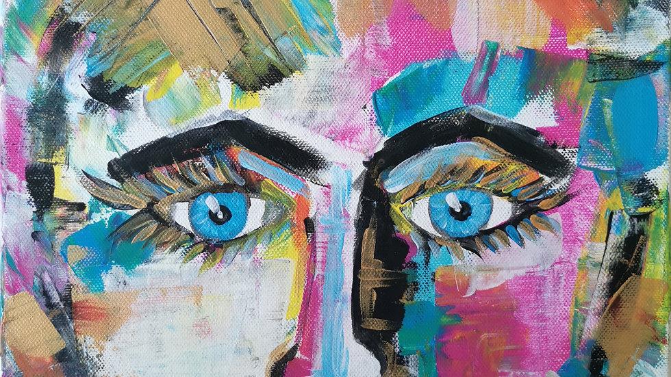 """Acrylbild """"Face"""" 30x40"""