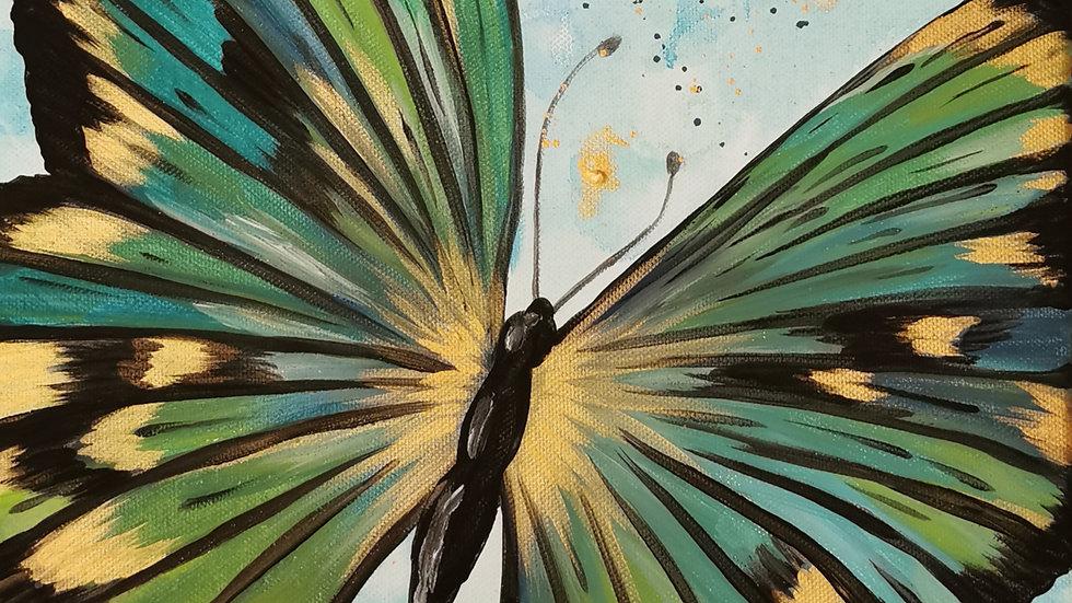 "Acrylbild ""Butterfly green"" 30x40"