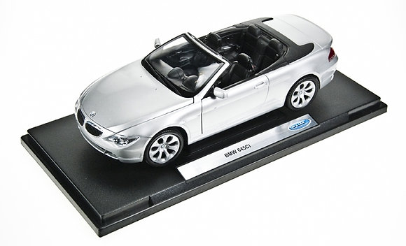 WELLY - 1:18, BMW 645CI CONVERTIBLE, SILVER