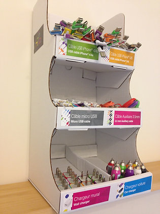 6 Compartments Cardboard Display