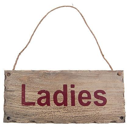 TIMBER - LADIES SIGN
