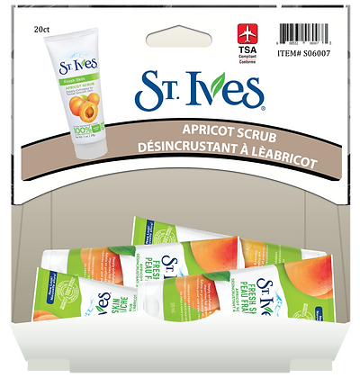 St Ives Apricot Facial Scrub 30mL, 20ct Gravity Pack