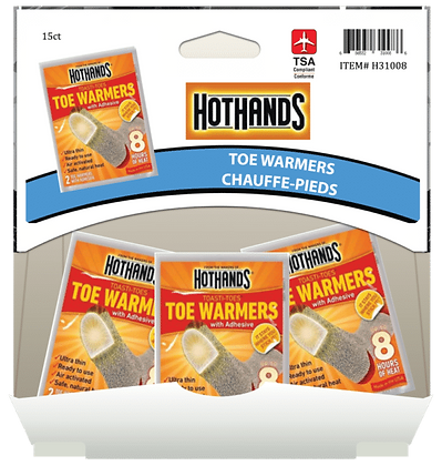 Hot Hands Toe Warmers, 15ct Gravity Pack