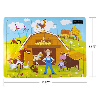 iPLAY - WOOD PUZZLE, FARM