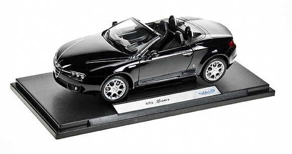 WELLY - 1:18, ALFA SPIDER CONVERTIBLE, BLACK