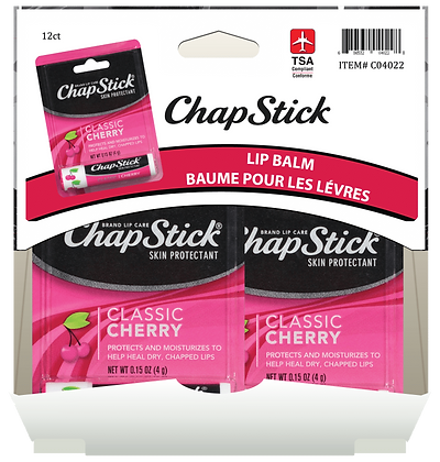Chapstick Cherry 4g, 12ct Gravity Pack