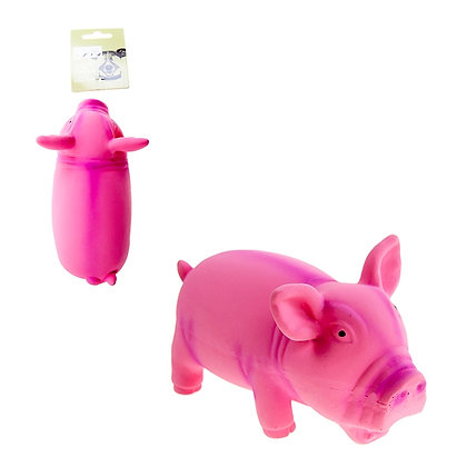 LATEX PIG DOG TOY WITH HONKER