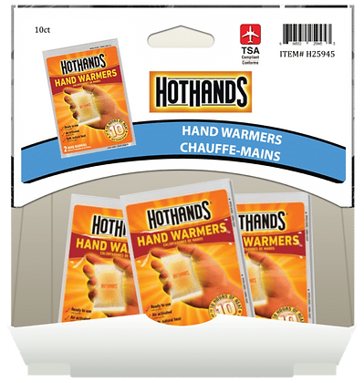 Hot Hands Hand Warmers 10hr, 10ct Gravity Pack