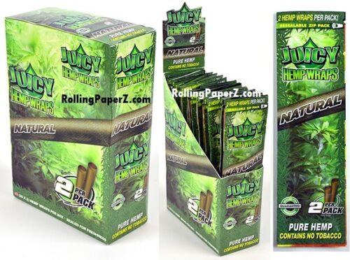 WHOLESALE JUICY HEMP WRAPS 2 PER PACK 25 PACKS PER BOX
