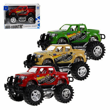 1/2 WHEELS - BIG WHEELS TRUCK, SMALL, IN 3 COLORS - YELLOW