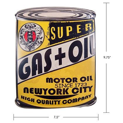 """TIMBER - TIN SIGN """"SUPER GAS+OIL"""""""
